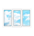 large window on a white background vector image vector image