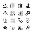 Law consulting legal compliance icons vector image