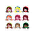 little girl icons vector image