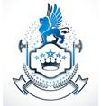 luxury heraldic emblem template blazon vector image vector image