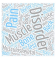 Musculoskeletal Disorders and Back Pain text vector image vector image
