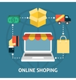 Online shoping concept vector image vector image