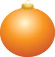 Orange Ball Ornament vector image vector image