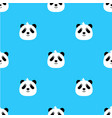 panda bear cute funny cartoon pattern seamless vector image