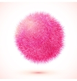 Pink fluffy isolated sphere vector image vector image