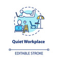 quiet workplace concept icon personal work space vector image vector image