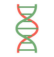 red green dna icon flat style vector image vector image