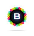 Retro bright colors Logotype Letter B vector image vector image