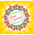 roses for birthday on abstract background vector image vector image