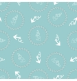 Seamless texture with pattern of stylized anchors vector image vector image