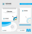 seo logo calendar template cd cover diary and usb vector image vector image