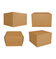 set of brown boxes vector image vector image