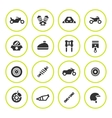 Set round icons of motorcycle vector image