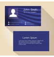simple blue abstract color business card design vector image vector image