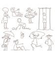 sketches children vector image