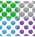 Sphere pattern set vector image