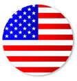 stars and stripes circle vector image