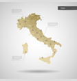 stylized italy map vector image