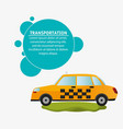 taxi car service transport design vector image vector image