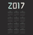 the 2017 calendar vector image vector image
