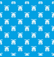 tribal helmet pattern seamless blue vector image vector image