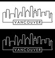 vancouver skyline colorful linear style vector image vector image