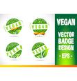 Vegan Badge Logo vector image