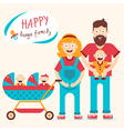 Happy Large Family vector image