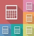 Icon of Calculator vector image