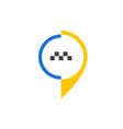 taxi icon 2 vector image