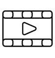 movies videos icon vector image