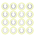 Set round icons of laurel wreath and modern frames vector image