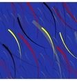 abstract fishes in depths ocean vector image