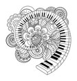 abstract musical instrument coloring book vector image