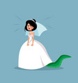 angry bride feeling unhappy vector image vector image