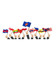 asean and membership flags businessman hand hold vector image