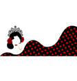 banner portrait flamenco woman beautiful girl vector image vector image