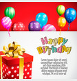 birthday invitation card birthday background vector image