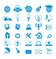 blue signs set vector image vector image