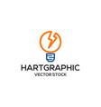bulb lamp electric logo vector image vector image