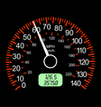 car speedometers vector image