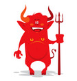 cartoon devil vector image