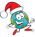 Cartoon Santa Globe vector image vector image