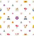 celebration icons pattern seamless included vector image vector image
