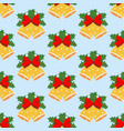 christmas bells pattern vector image