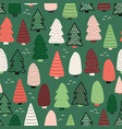 christmas trees background seamless vector image vector image