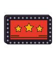 cinema blank sign vector image vector image