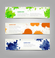 collection abstract banners with colored blots vector image
