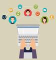 community social media people vector image vector image