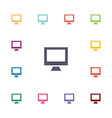computer flat icons set vector image